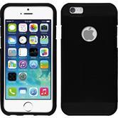 Hybrid Hülle iPhone 6s / 6 ShockProof Holes schwarz + 2 Schutzfolien