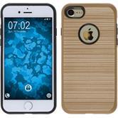 Hybridhülle für Apple iPhone 7 brushed Case gold