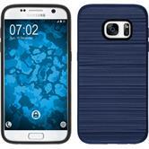Hybridhülle für Samsung Galaxy S7 brushed Case dunkelblau