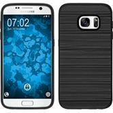 Hybrid Hülle Galaxy S7 brushed Case schwarz