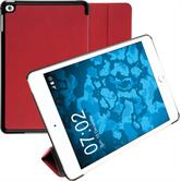 Artificial Leather Case iPad Mini 4 Tri-Fold red + protective foils