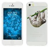 Apple iPhone 5 / 5s / SE Silikon-Hülle Vektor Tiere  M6