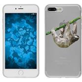 Apple iPhone 8 Plus Silicone Case vector animals sloth M6