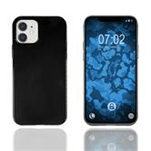Custodia in Silicone iPhone 12 trasparente nero Cover