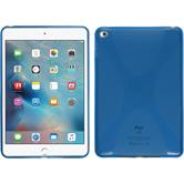 Silicone Case for Apple iPad Mini 4 X-Style blue