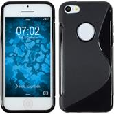 Silicone Case for Apple iPhone 5c S-Style logo black