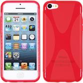 Silicone Case for Apple iPhone 5c X-Style red