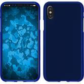 Silicone Case iPhone X matt blue Case