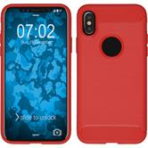 Silicone Case iPhone X Ultimate red Case