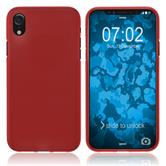 Silicone Case iPhone Xr matt red Case
