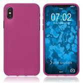 Silicone Case iPhone X matt hot pink Case