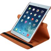 Artificial Leather Case for Apple iPad Air 360° orange