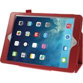 Kunst-Lederhülle iPad Air Wallet rot