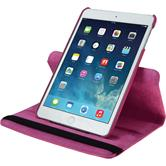 Artificial Leather Case for Apple iPad Mini 3 2 1 360° hot pink