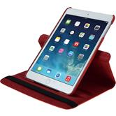 Artificial Leather Case for Apple iPad Mini 3 2 1 360° red + protective foils
