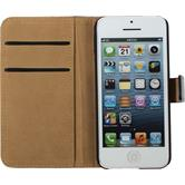 Artificial Leather Case for Apple iPhone 5c Wallet black