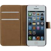 Artificial Leather Case for Apple iPhone 5c Wallet white