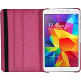 Artificial Leather Case for Samsung Galaxy Tab 4 8.0 360° hot pink
