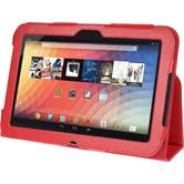Artificial Leather Case for Google Nexus 10 Wallet red