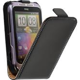 Artificial Leather Case for HTC Wildfire S Flipcase black