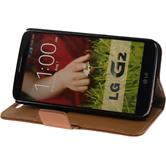 Artificial Leather Case for LG G2 Premium brown