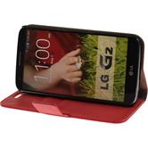 Artificial Leather Case for LG G2 Premium red