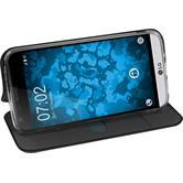 Kunst-Lederhülle für LG G5 Etui schwarz + 2 Schutzfolien