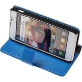 Artificial Leather Case for LG Optimus F5 Premium blue