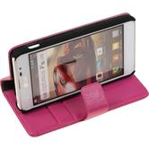 Artificial Leather Case for LG Optimus F5 Premium hot pink