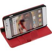 Artificial Leather Case for LG Optimus F5 Premium red