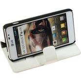 Artificial Leather Case for LG Optimus F5 Premium white