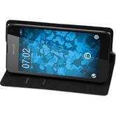 Kunst-Lederhülle Lumia 650 Book-Case weiß