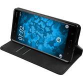 Kunst-Lederhülle Nokia 8 Book-Case schwarz Case