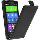 Artificial Leather Case for Nokia X / X+ Flipcase black