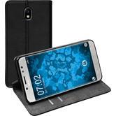 Kunst-Lederhülle Galaxy J7 Pro Book-Case schwarz + 2 Schutzfolien