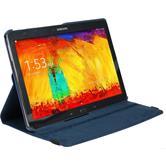Kunst-Lederhülle Galaxy Note 10.1 2014 360° blau + 2 Schutzfolien