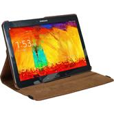 Artificial Leather Case for Samsung Galaxy Note 10.1 2014 360° brown
