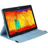 Kunst-Lederhülle Galaxy Note 10.1 2014 360° hellblau + 2 Schutzfolien