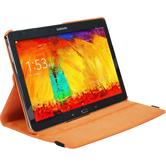 Artificial Leather Case for Samsung Galaxy Note 10.1 2014 360° orange