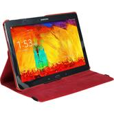 Artificial Leather Case for Samsung Galaxy Note 10.1 2014 360° red