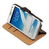 Artificial Leather Case for Samsung Galaxy Note 2 Wallet black