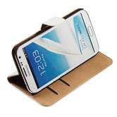 Kunst-Lederhülle Galaxy Note 2 Wallet weiß + 2 Schutzfolien