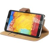 Artificial Leather Case for Samsung Galaxy Note 3 Wallet brown