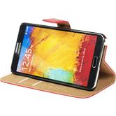 Artificial Leather Case for Samsung Galaxy Note 3 Wallet red
