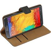 Artificial Leather Case for Samsung Galaxy Note 3 Neo Wallet black