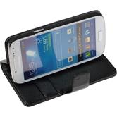Artificial Leather Case for Samsung Galaxy S4 Mini Premium black