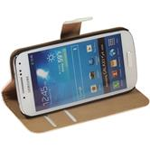 Artificial Leather Case for Samsung Galaxy S4 Mini Wallet white