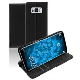 Kunst-Lederhülle Galaxy S8 Book-Case schwarz