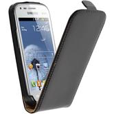 Artificial Leather Case for Samsung Galaxy S Duos Flipcase black