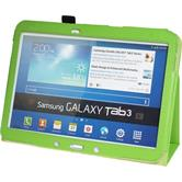 Artificial Leather Case for Samsung Galaxy Tab 3 10.1 Wallet green